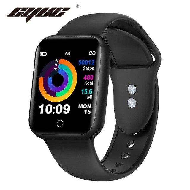 CYUC NY07 スマート腕時計 sms コールリマインダー心拍数モニター血圧 IP67 防水用男性女性スマートウォッチ