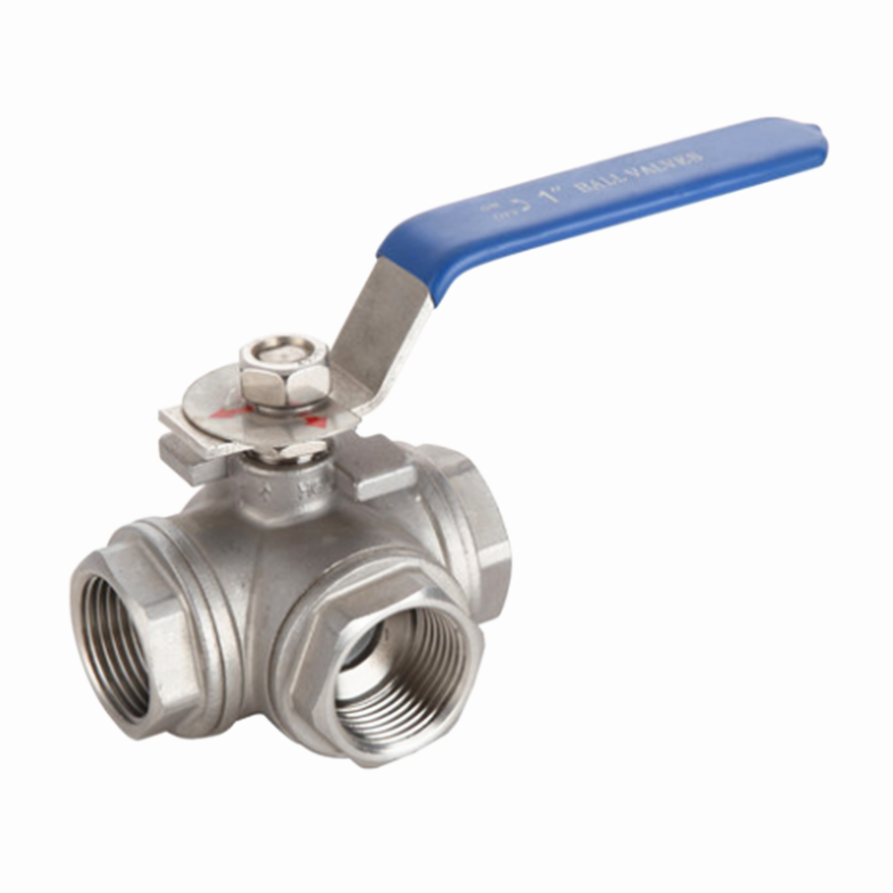 304 Stainless Steel Three-way Ball Valve L Type T Type 1/4