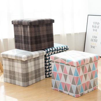 Children Storage Pouf Multifunctional Stools Creative Storage Change Shoes Lovely Clothing Sofa Stool Boxes Ottoman