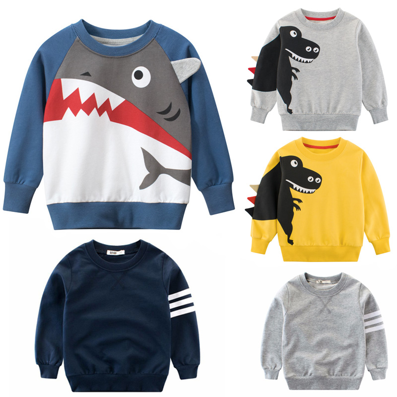 Children's boys' Long Sleeve Top Boys' autumn and winter cotton sweatshirt 2345678 year old children's top clothing