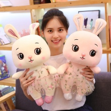 New Lovely Lace Dress Rabbit Plush Toy Soft Cartoon Animal Bunny Stuffed Doll Baby Appease Pendant Girl Kid Christmas Gift