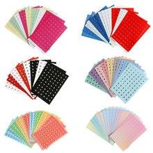 16 folhas coloridas diy números letras adesivos auto adesivo pequena marca de roupas etiquetas adesivos de papel de escritório da escola