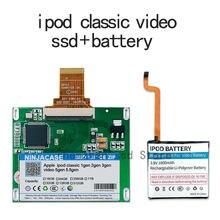 Novo ssd 32g 64g 128g 256g 512g 1tb para ipod clássico 7gen ipod vídeo 5th substituir mk3008gah mk8010gah mk1634gal ipod hdd ferramenta gratuita
