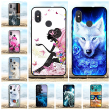 For Xiaomi Mi 8 Explorer Case Slim Soft TPU Silicone Cover Girl Pattern Funda Bag