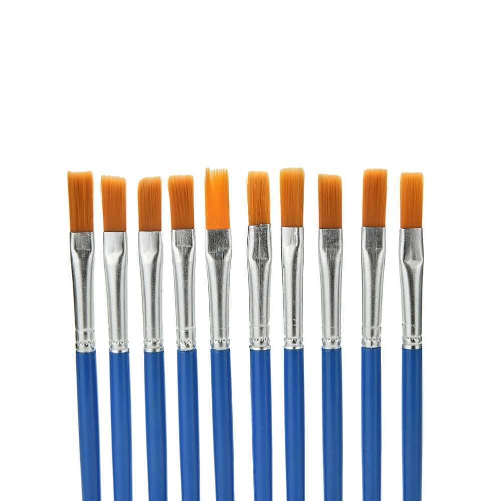 10 ชิ้น/ล็อตพลาสติกมือจับแปรงวาดภาพวาดของเล่นสำหรับเด็กสีน้ำ Gouache วาดภาพวาด Art Supplies