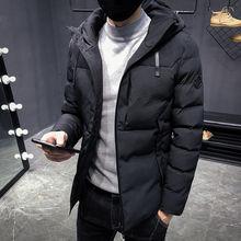 Брендовая зимняя куртка мужская Повседневное со стоячим воротником, с капюшоном, с воротником, Модное зимнее пальто Для мужчин парка верхняя одежда, теплый, Облегающая посадка