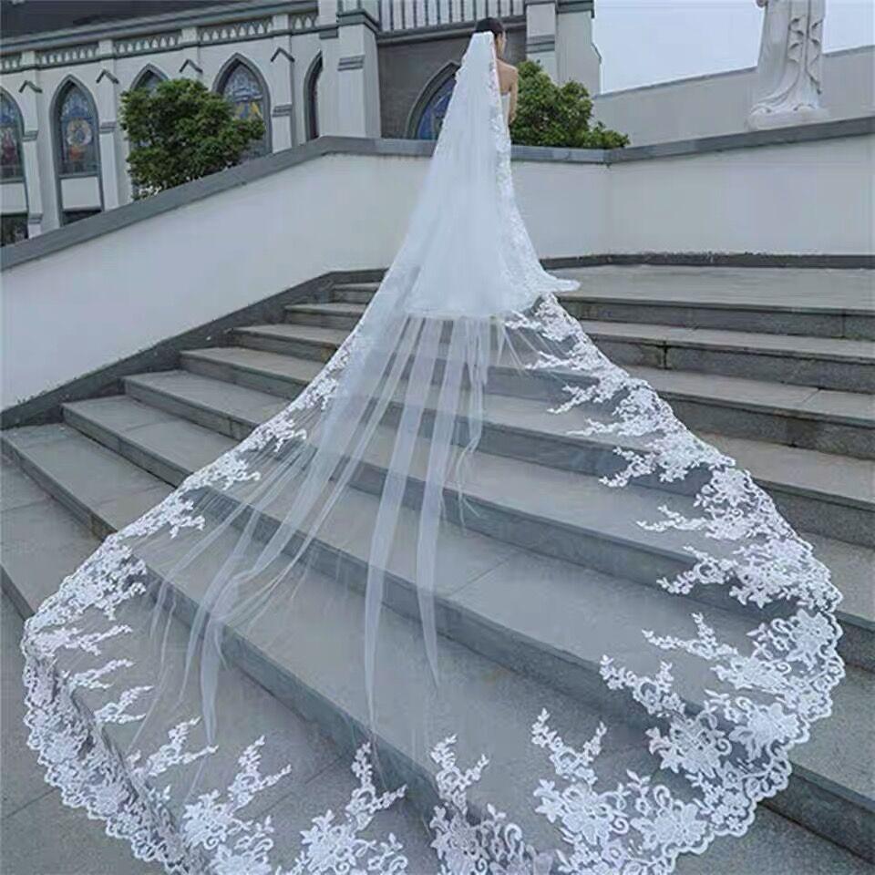 Wedding Veils Bridal Veils Wedding dress accessory lace Long veils 003