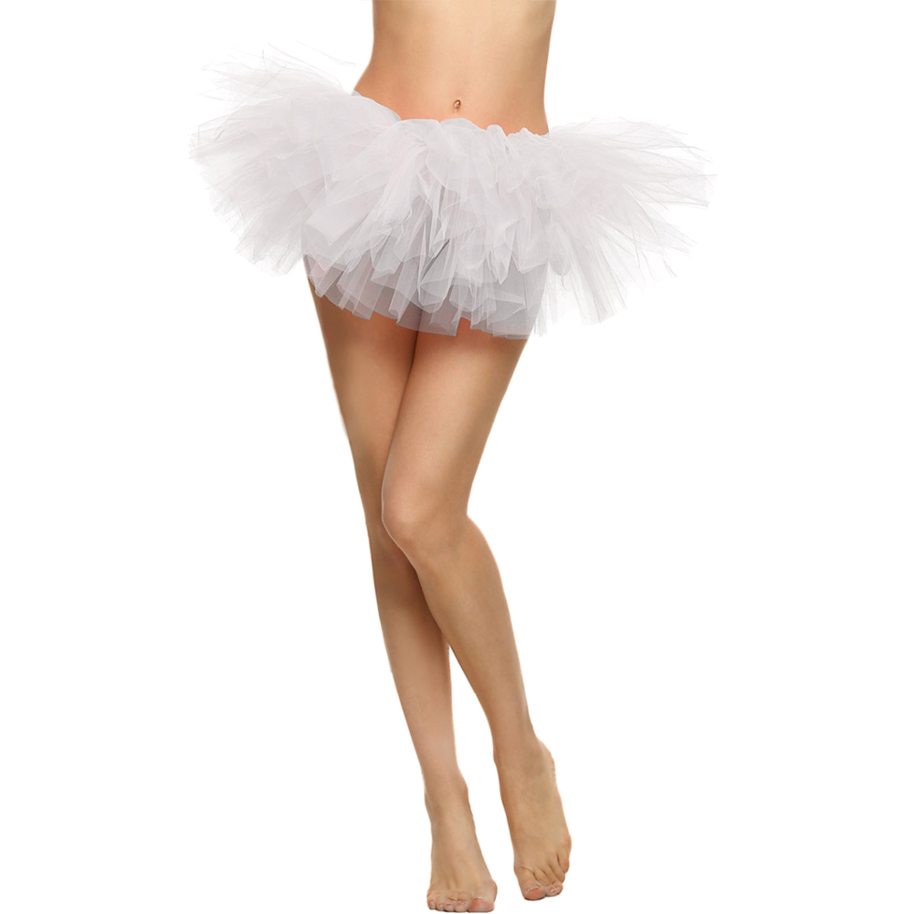Elastic Halloween Fashion Party Fluffy Adult Theatrical Sexy Ballet Dancing Tutu Skirt 5 Layered Tulle Short Dress Up
