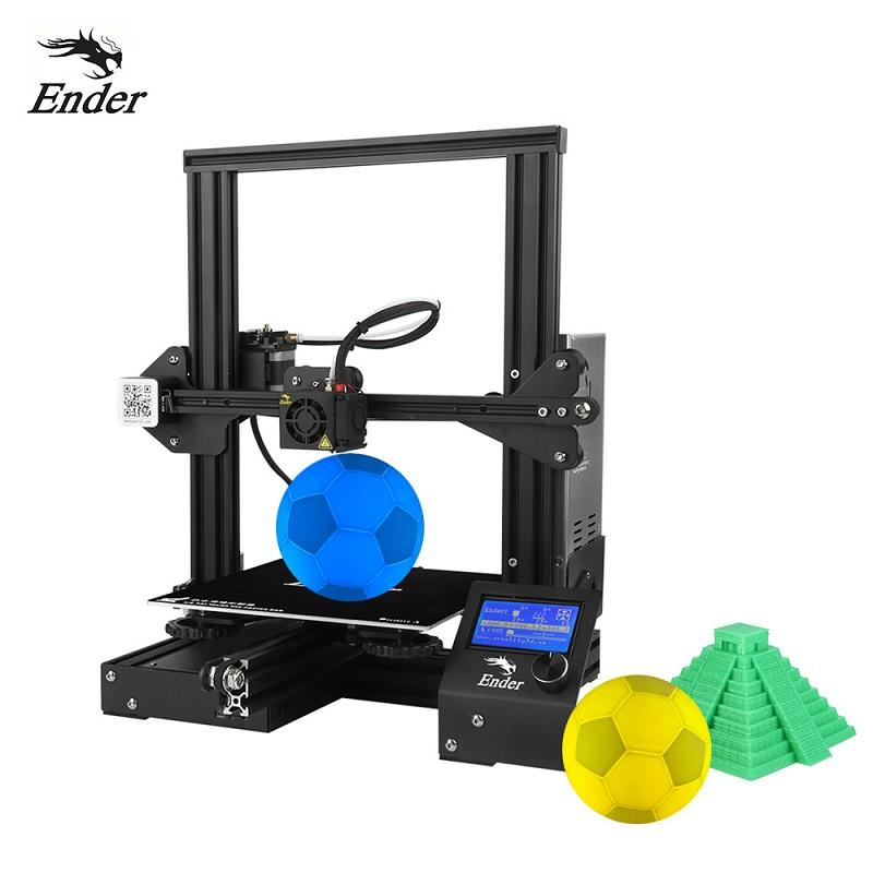 Image 2 - CREALITY 3D Printer Ender 3 DIY Kit 3D printer Large Size I3 mini Ender 3 V slot Resume Power Failure Printing MeanWell Power-in 3D Printers from Computer & Office