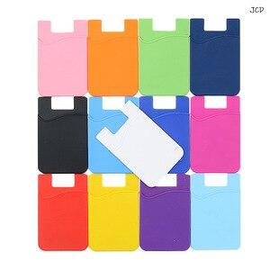 11 цветов, клейкая наклейка, мобильный телефон, задняя крышка, кошелек, чехол, Кредитная ID карта, держатель для сотового телефона, держатель д...