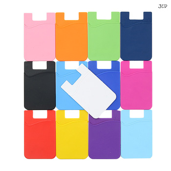 11 Color Adhesive Sticker Mobile Phone Back Cards Wallet Case Credit ID Card Holder Cell Phone Card Holder Pocket 5.5 x 8.5cm new universal rfid blocking 5 pull credit card holder cell phone wallet case stick adhesive