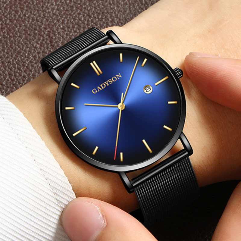 New Mens Watches Casual Fashion Gift Men Watch Business Waterproof Quartz Watch Full Steel Clock Relogio Masculin