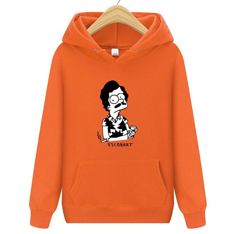 Fashion Brand Hoodies Men ESCOBART Print Casual Sportswear Man Hoody Long-sleeved Sweatshirt Slim Fit Mens Hoodie