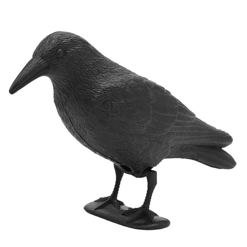 Black Plastic Crow Hunting Decoys Yard Garden Bird Deterrent Decor Gift Bird Repeller Deter Scarer Scarecrow Mice Pest Control