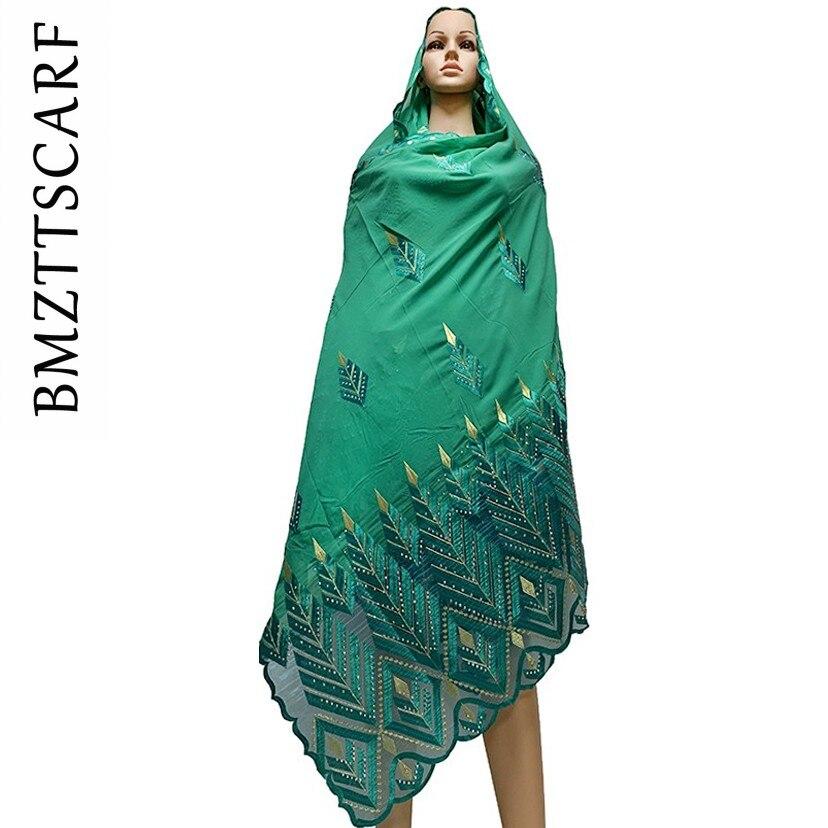 Image 5 - 높은 품질시 폰 스카프 mulim 여성 자 수 쉬폰 스플 라이스 얇은 명주 그물 소재 shawls에 대 한 큰 크기 스카프 BM742여성용 스카프   -