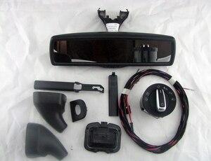 Image 4 - רכב מראה אחורית אוטומטי פנס מתג + גשם אור מגב חיישן + נגד בוהק מראה אחורית פולקסווגן גולף MK6 Tiguan Jetta 5