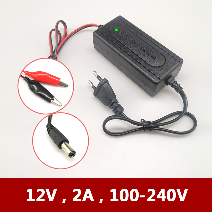 Full Automatic 12V 2A Electric Kids Child Toy Scooter Mower Car Motorcycle Battery Charger for 7a 10a 12a 20a Lead-Acid AGM GEL