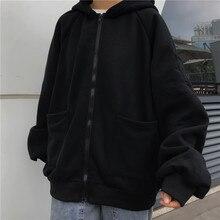 Zip-Up Sweatshirt Clothing Tops Hoodies Women Long-Sleeve Harajuku Streetwear Korean-Style