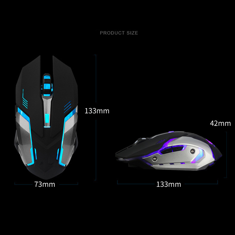 Rechargeable Wireless LED Backlight USB Optical Gaming Mouse Computer Games Mice For Pro Gamer OUJ99