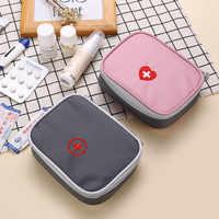 First Aid Kit Tasche Tragbare Reise Medizin Paket Notfall Kit Taschen Kleine Medizin Divider Lagerung Organizer Hause Im Freien