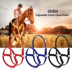 6 мм утолщенная голова лошади воротник регулируемый безопасности Холтер уздечка головной убор