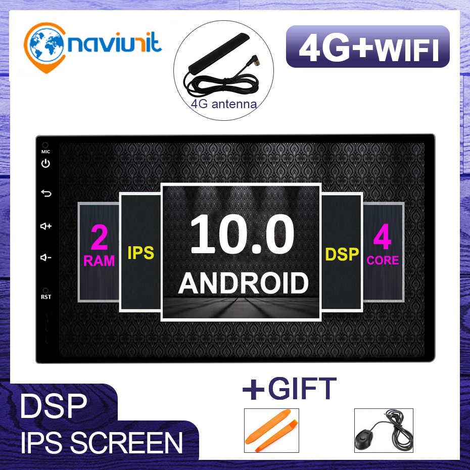 Android 10 evrensel 2 din araba radyo Stereo GPS navigasyon için VW/NISSAN/toyota araba PC multimedya obd2 DSP 4G SIM IPS HD ekran