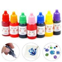 10ml 7 Colors  1 set Dye Colorant Set Slime Jewelry Making Skin Safe Liquid Resin Pigments Slime Jewelry DYE Pigment
