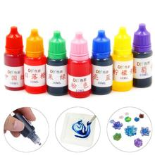 10ml 7 Colors  1 set Dye Colorant Set Slime Jewelry Making Skin Safe Liquid Resin Pigments Slime Jewelry DYE Pigment
