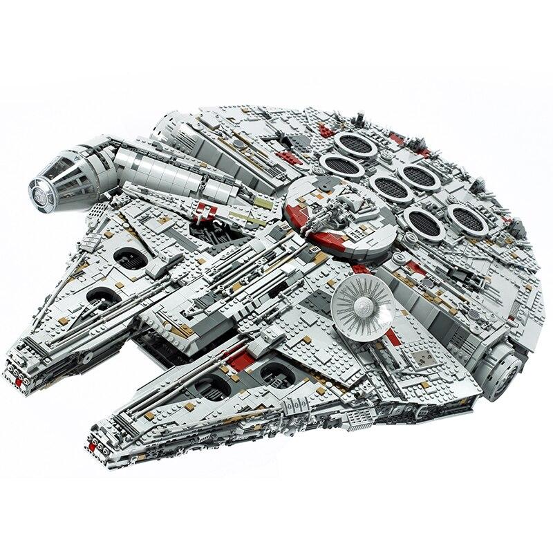Em estoque 05132 novos millenniums 8445 pçs 75192 legoinglys star wars falcon série últimos colecionadores modelo de construção tijolos brinquedos