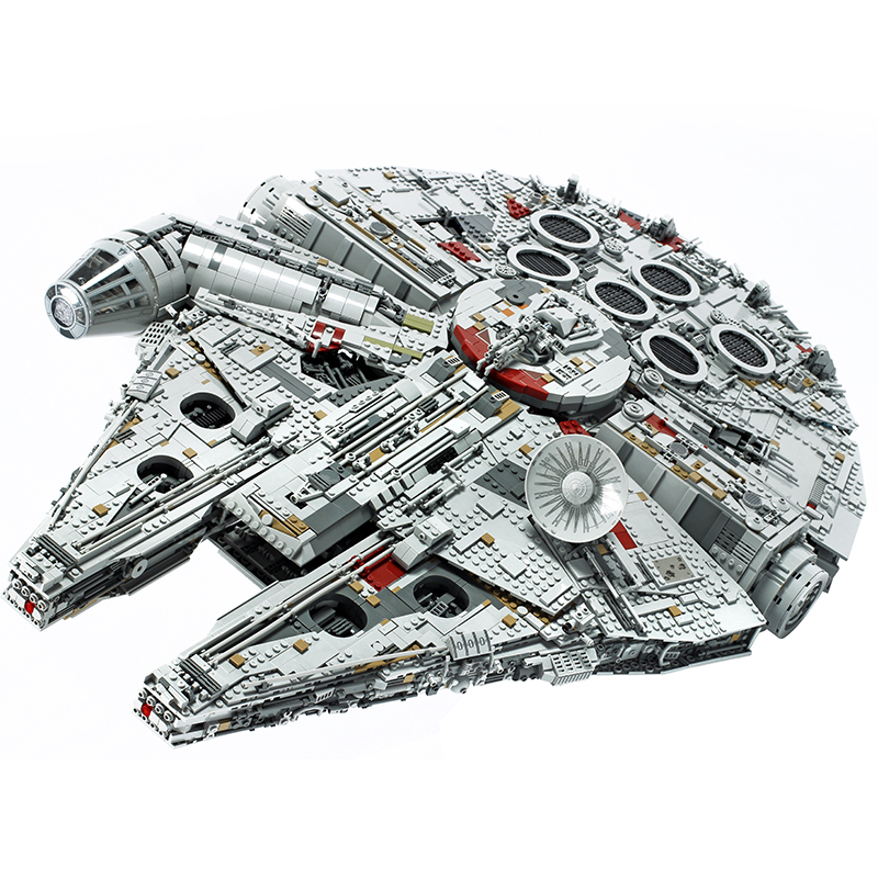 In Stock 05132 New Millenniums 8445pcs 75192 Legoinglys   Star Wars Falcon Series Ultimate Collectors Model Building Bricks Toys
