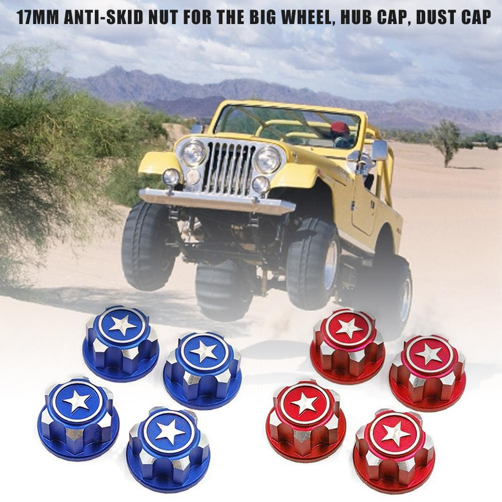 4PCS Wheel Hub Nut CNC Alloy 17MM Wheel Nut Dustproof Non-slip Nut <font><b>RC</b></font> <font><b>Car</b></font> Accessories For Traxxas <font><b>X</b></font>-<font><b>maxx</b></font> Summit image