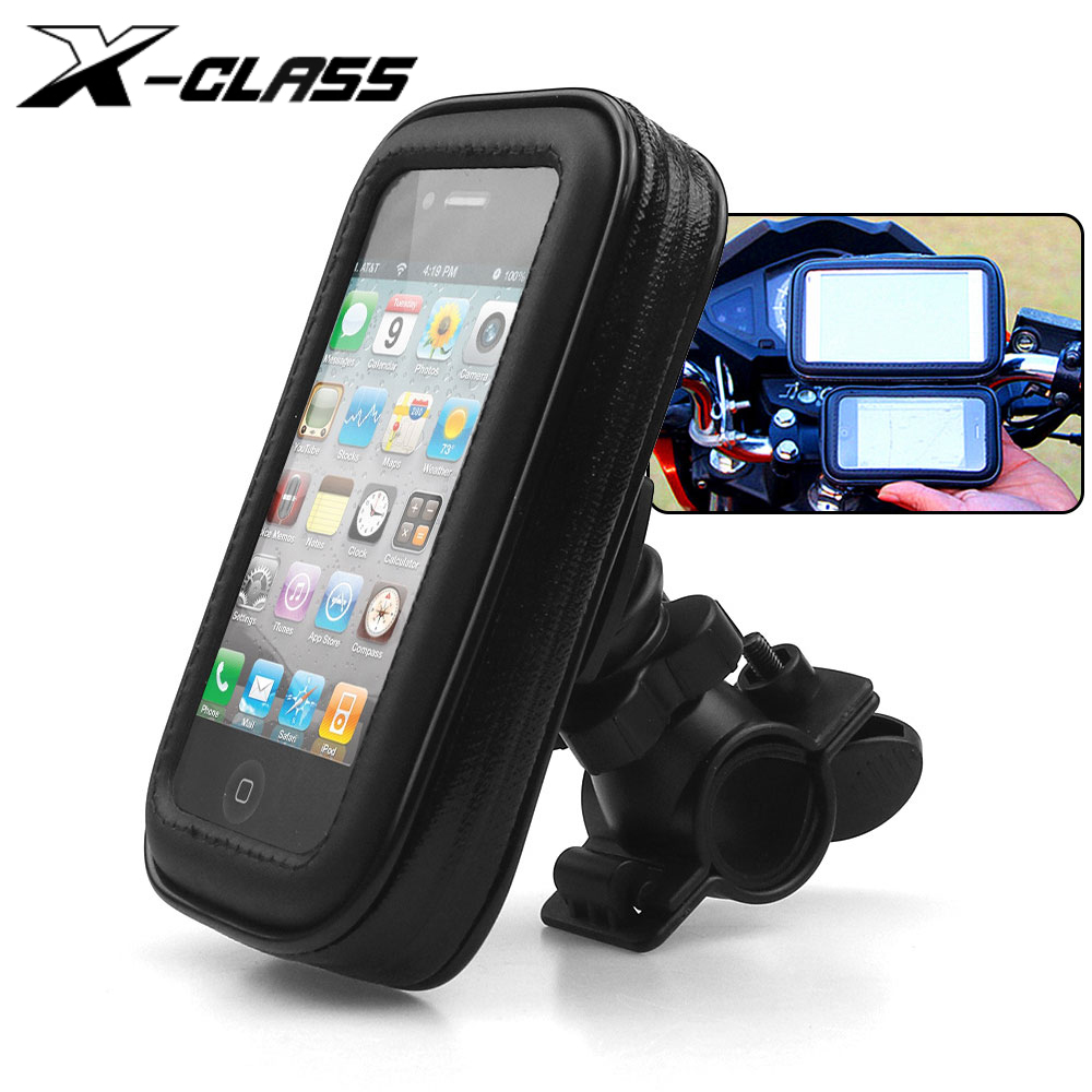Universal Motorcycle  Handlebar Phone GPS Holder Non-Slip Rubber Grip Cradles motorcycle mobile support