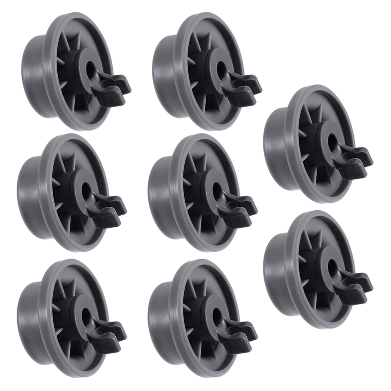 8Pcs Dishwasher Wheel Durable 165314 Dishwasher Lower Rack Wheel Replacement Fit For Whirlpool And Kenmore Dishwasher