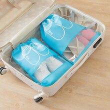 10PCS Portable Shoe Bag Travel Shoe Storage Bag Beam Mouth Non-woven Bag Shoe Bag Pouch Organizer With Transparent Window