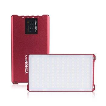 YONGNUO YN125 Mini LED Fill Light 3200-5600K Photography Lamp 120LEDs Dimmable Built-in Battery for Video Selfie Taking Photo
