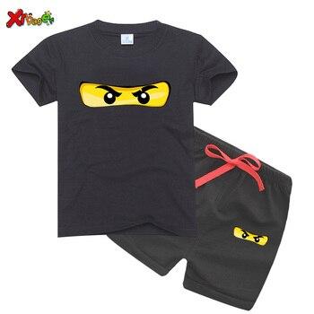 Kids Clothes Set 2020 Summer Ninjago T Shirts Cotton Top Tees Short Sleeves Girl T-Shirts + Pants  shirt