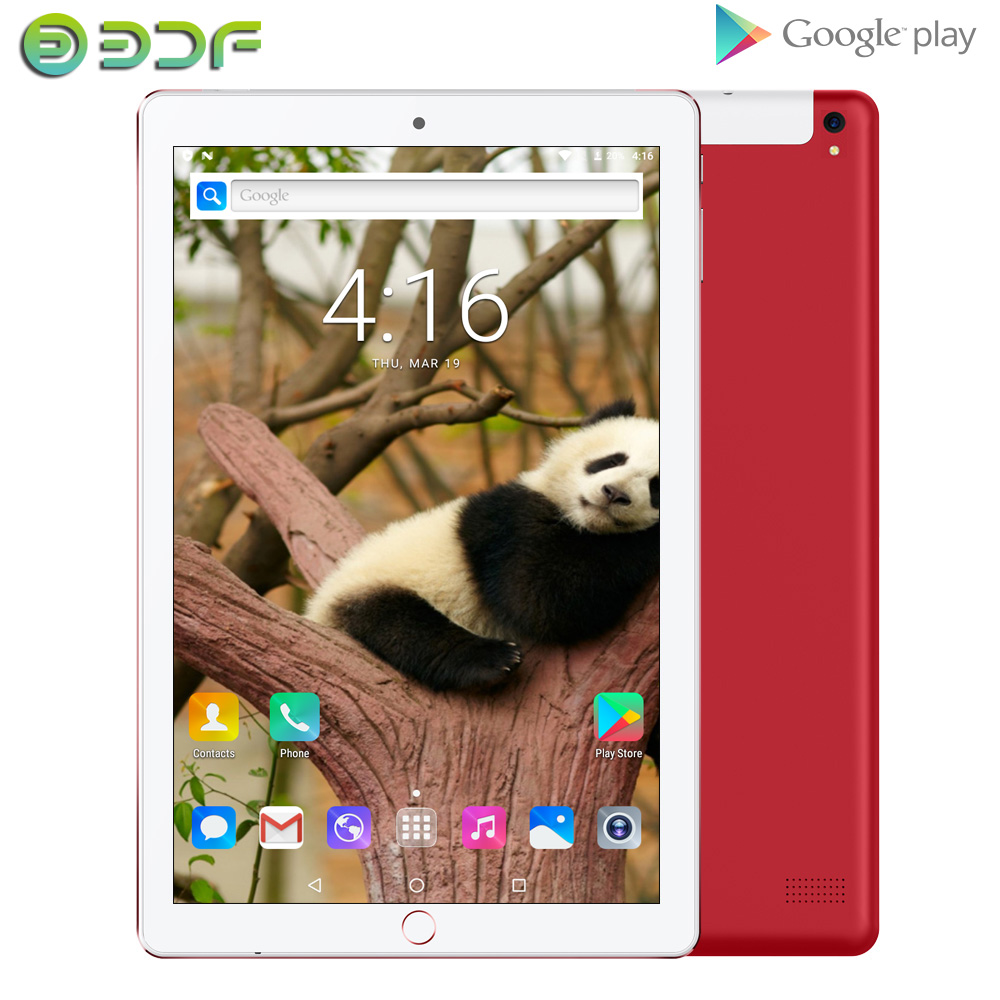 New Design 10.1 Inch Android 7.0 Tablet Pc 3G Phone Call Dual SIM Cards Google Market  Dual Camera WiFi GPS Bluetooth 10 Tablets