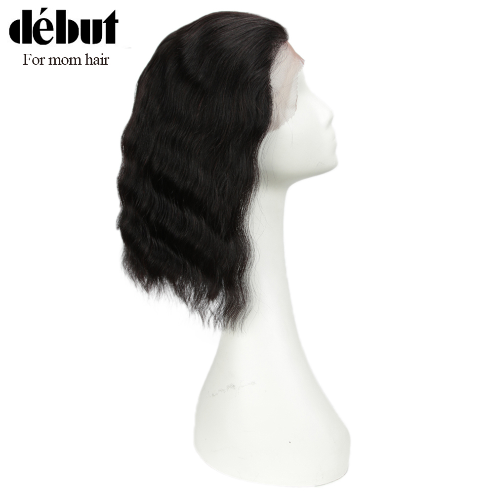 Debut Lace Front Human Hair Wigs Short Human Hair Wigs 100% Remy Brazilian Hair Wigs For Mom Har Wave Wave 13x4 Lace Soft Wigs