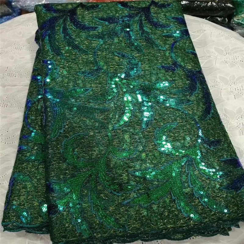 Африканская кружевная ткань 2019, высокое качество, кружевная ткань с блестками, французская нигерийская оптовая продажа, кружевная ткань с золотой вышивкой, Свадебное кружево