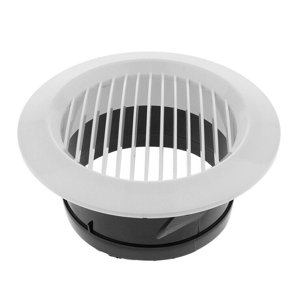 Air Vent Grille Circular Indoor Ventilation Outlet Duct Pipe Cover Cap JAN88
