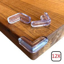 12Pcs Clear Baby Safety Corner Protector Bumper Guards Kids Proof Elastic Table Corner Resistant Adhesive Gel Best Baby Soft(China)