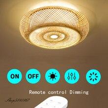 Mão fazer bambu luz de teto estilo chinês pendurado cobertura teto lâmpadas para sala estar sala jantar iluminação teto casa deco