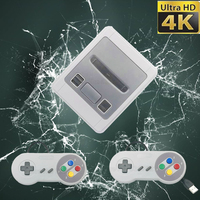 1600 Games 64 Bit Arcade 4K Mini HD HDMI TV Retro Video Game Console Controller Handheld Classic for SNES Dual Gamepad Player