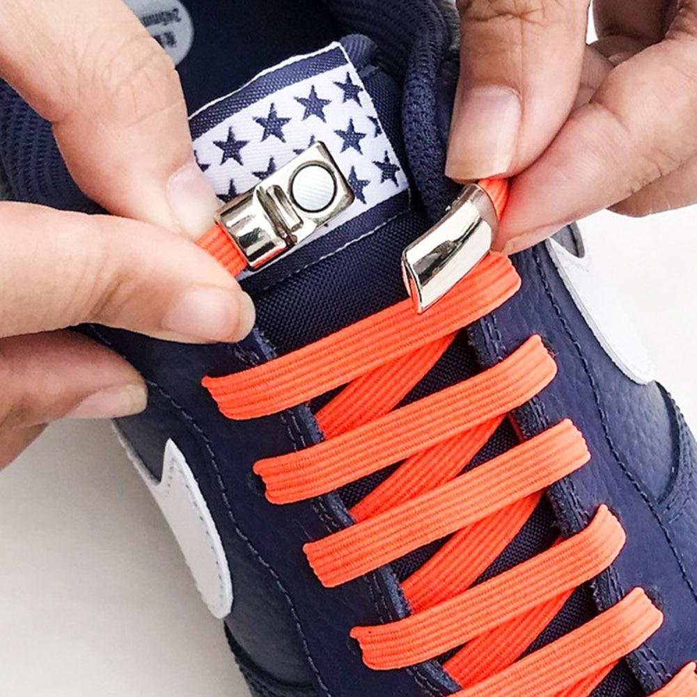 1Pair Fashion Magnetic Shoelaces Elastic No Tie Shoe Laces Kids Adult Unisex Flat Sneakers Shoelace Quick Lazy Laces Strings