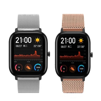 22mm bracelet strap for xiaomi huami amazfit pace stratos 2 gtr 47mm band for samsung gear s3 pulsera for huawei 2 pro gt correa For Amazfit GTR 47MM Strap For Huami Amazfit Bip Lite/Stratos 3 2/Pace/GTS Watch Band For Huawei GT 2 Watchband Stripe