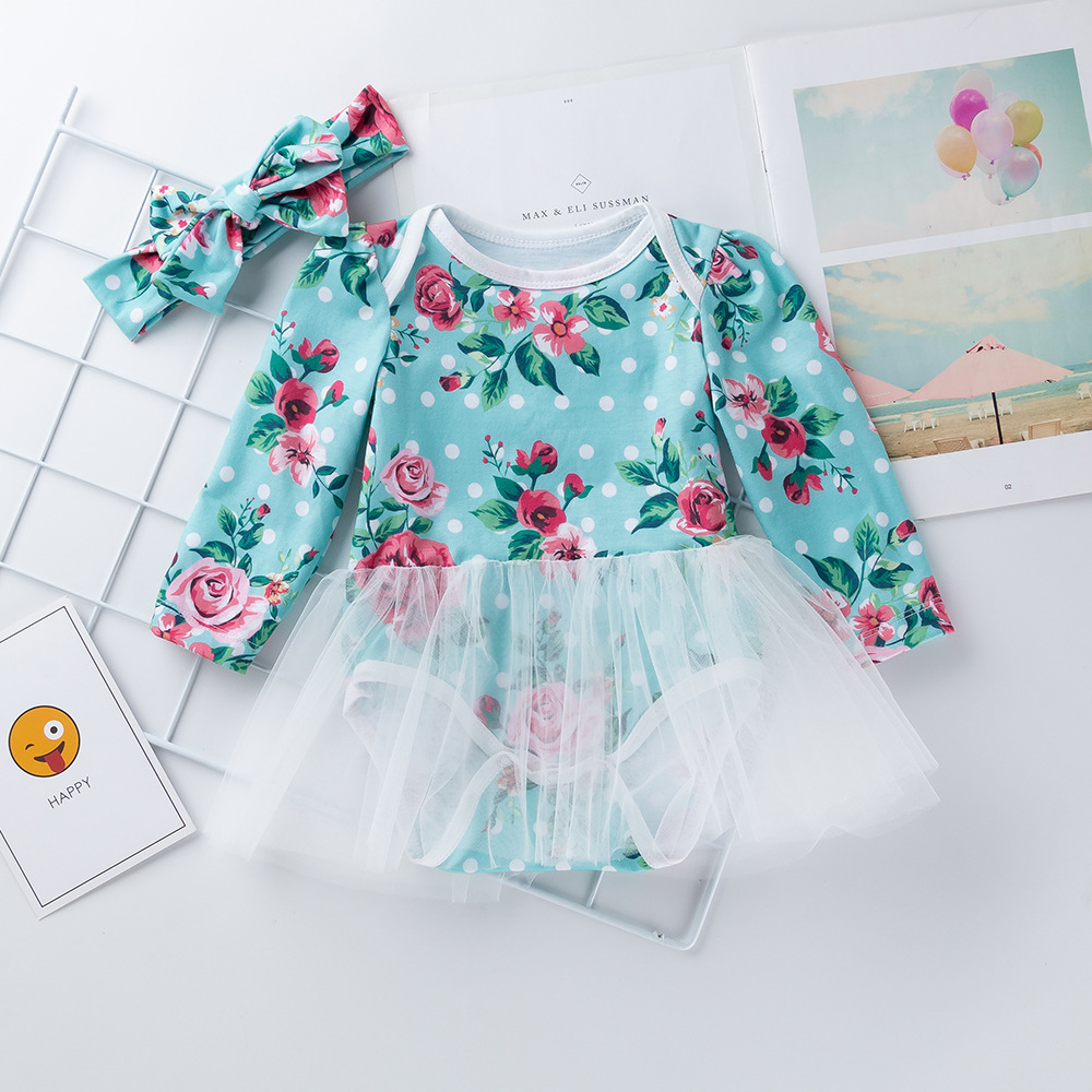 1pc Baby clothes infant girls princess bodysuit lace summer cotton jumpsuit