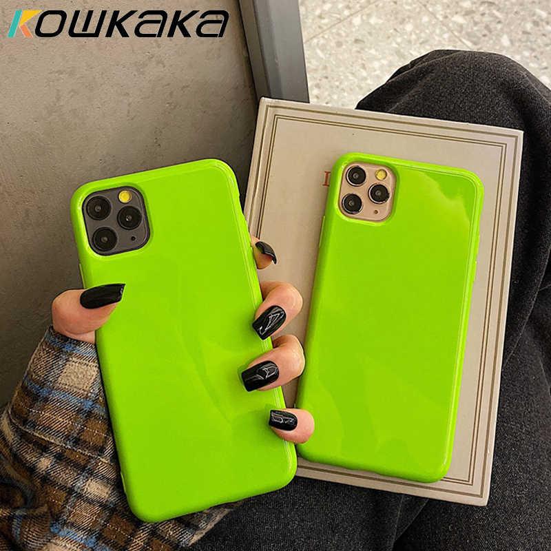 Kowkaka เงา Gorgeous สีเรืองแสงสำหรับ iPhone 11 PRO MAX X XR XS 6 6 S 7 8 PLUS Soft TPU บุคลิกภาพปกหลัง