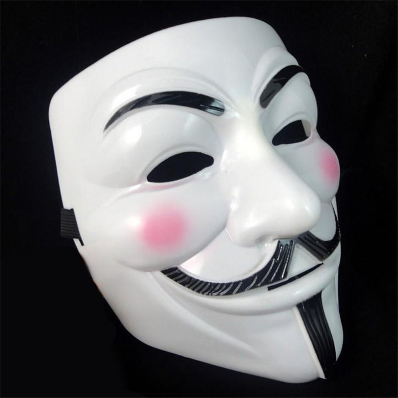 Costume-Accessory Props-Anonymous-Masks Vendetta Mask Party-Supplies Scary Masquerade