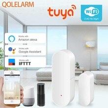 Tuya חכם בית אבטחת WIFI דלת מעורר מערכת WiFi חלון דלת חיישן גלאי באמצעות App תואם אמזון Alexa Google בית