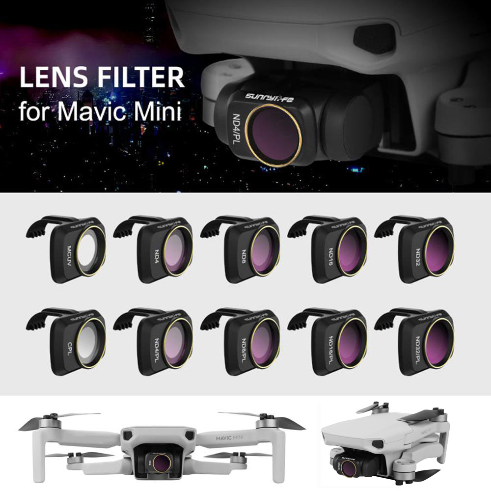 ND4 ND8 ND16 ND32 MCUV CPL ND4 ND8 ND16 ND32 Lens Filter for DJI Mavic AIR Filters UV Polarizer ND Gimbal Camera Lens Cover Sunhood